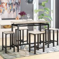 Weatherholt 5 - Piece Counter Height Dining Set