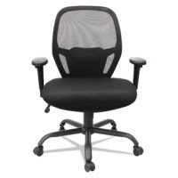 Aesthetically stylish for superior sitting experience for users up to 450 lbs.  Integrated lumbar support encourages ideal back posture. Removable padded armrests offer soft support. Durable, heavy-duty base with casters.