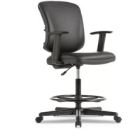 The one stool suitable for all your everyday work tasks. Contoured padded seat and back provide superior comfort and ergonomics. Waterfall seat edge relieves pressure on the back of legs and knees. Adjustable height padded arms. Adjustable footrest for support and to keep feet from hanging.
