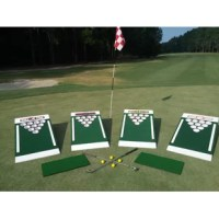 Make improving your short game and drinking game fun with the original Beer Pong Golf Set. This new game, which is made of solid wood, is an exciting combination of golf, beer pong and backyard games like corn hole. You can play with empty cups and insert prizes, challenges or anything else you can think of in each cup to make the game your own. For the kids, turn this into a fun game of mini triangle tic-tac-toe. These are excellent for fundraising and are designed for you with your favorite...