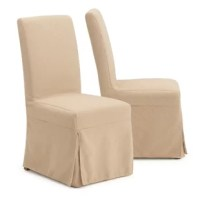 Treat your guests like nobility in these classic armless chairs, fully upholstered in polyester for supreme comfort and elegance. Solid hardwood legs and a pine frame are designed for years of durability. The clean, upright shape of the chair is timeless while providing plenty of back support.