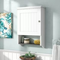 When it comes to our homes, storage space seems to always come at a premium. If you're looking for the perfect pick for your bathroom ensemble, this cabinet is here to help. Made in the USA, it's crafted from manufactured wood, and features a streamlined design with a cabinet and three shelves, perfect for tucking away any loose toiletries you'd rather not have on display. Plus, this product comes backed by a five-year warranty.