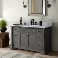 Anchor your powder room ensemble in classic style with this clean-lined single vanity. Spanning 49