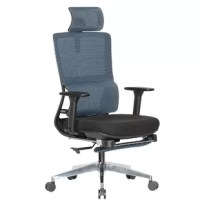 Combining sleek elegance and ergonomic design makes this chair ideal for the office and home office for all age groups. The multi-function features facilitate more comfort and designed footrest perfect for resting. The multi-function mechanism fully equipped. The base is made of polished aluminum alloy with resilient castors for mobility. Seat upholstered with thick fire retardant padded foam.