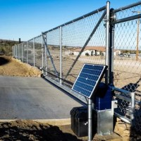 Designed with a 120V AC/DC (0.5 HP equivalent) motor, this gear rack is driven Sliding Gate Opener Solar Kit provides exceptional starting torque and continuous operation, making it ideal for most applications. Opens gates up to 900 lbs or 30 Ft in length (13' gear rack tracks are included). Solar panel mounting hardware is not included.