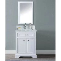 It features solid hardwood construction and an elegant, natural polished Carrera Marble countertop. Chic and fashionable meets warm and traditional, with its traditional look and modern edge. It gives your bathroom a taste of the new – without stifling the old.