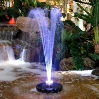 Add a playful spray head to your fountain or pond! The fountain sprays water into the air creating a soothing sight and a relaxing atmosphere, bringing vitality to an ordinary landscape. Joyful streams of water shoot 3 feet upward out of this floating apparatus, while 48 bright LED lights highlight the whole show. With an included anchor, you can be sure that your floating fountain stays in place. To use, simply plug in, place the floating head and anchor in the center of your pond, and watch...