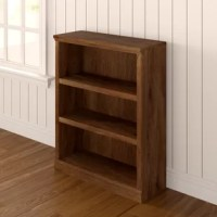 Too many books and not enough space to store them? Every bookworm's dilemma. Don't worry, this bookcase is here to help. Made in the USA, this piece is crafted from manufactured wood and showcases three shelves, perfect for stashing all of your favorite well-thumbed tomes. Each shelf is adjustable for your convenience, while a neutral finish allows this piece to blend with a variety of color schemes. Plus, this piece comes backed by a five-year warranty.