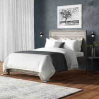 This contemporary, clean-lined bed gets a rustic twist, making it the perfect pick for industrial lofts and modern farmhouses alike. Crafted from solid pine wood, its frame features a slatted design and a weathered finish. No box spring is required for this piece; instead, a slat-system is included to give your mattress support and space to breathe. Assembly for this product is required. The manufacturer for this product provides a limited one-year warranty.