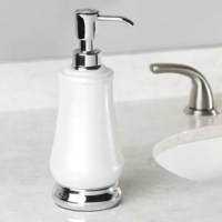 The InterDesign Bragg Pump Soap Dispenser is a modern, stylish and practical accent for your kitchen or bathroom sink with a champagne dispenser and pump head. This soap pump is rustproof.