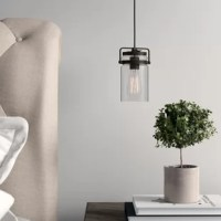 Brinley™ mini pendant features a modern vintage look with clear glass. Inspired by mason jars, the Brinley mini pendant works in several aesthetic environments, including modern vintage and transitional.