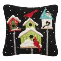 This line of handmade hook pillows is made to last years with vivid details and color. These functional and yet versatile pillows are meticulously crafted and ready to display. Made of New Zealand wool yarn and backed in luxurious cotton velveteen to fill your home with idyllic holiday scenery as well as everyday occasions.