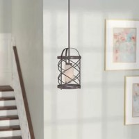 Is your lighting lacking in luminosity? There's no need to wander around in the dark: give your home a stylish refresh! At the intersection of rustic-inspired and industrial, this chandelier delivers plenty of romance with its cage silhouette. Constructed of metal, this piece features a single 100W bulb (not included), and is compatible with sloped ceilings for hanging almost anywhere. If you're looking to have a little more manipulation of your illumination, this piece is compatible with a...
