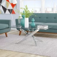 Lend ultracontemporary vibes to any seating ensemble with chic and sleek coffee table! Crafted of stainless steel in a gleaming chrome finish, this coffee table strikes a rectangular silhouette measuring 17.75