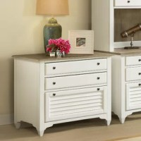 Whether you live on the coast or are just wanting to add a coastal cottage feel to your home, take a look at this 3-Drawer Lateral Filing Cabinet. Finishes of paperwhite and natural lend a casual elegance to this.