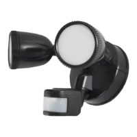 Stonepoint 1200 lumen LED motion operated security light allows you to light up large areas. It has a 120⁰ LED angle and 180⁰ detection angle. The motion operated control allows the light to come on when motion is detected. It can stay on for 5 seconds up to 5 minutes after the motion is detected. The maximum detection range is 50'.