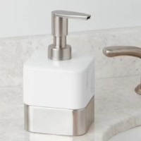This Soap Dispenser is a modern, stylish and practical accent for your kitchen or bathroom sink.