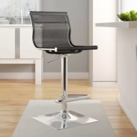 Sitting at the perfect height for kitchen islands, breakfast bars, and pub tables, barstools have a leg up on other seating. Take this bar stool for example: perfectly suited for your home's modern aesthetic. It features a square full-back, built-in footrest, and swivel capabilities. The frame of this bar stool is crafted from stainless steel, and upholstered with 100% polyester mesh.