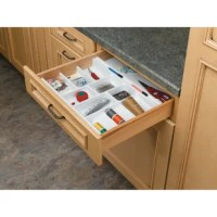 This drawer organizer is the best if you are looking for a custom look. Why settle for a cutlery insert that just drops in your drawer and moves every time you open and close your drawer.