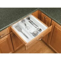 Rev-A-Shelf's drawer inserts are the best if you are looking for a custom look. Why settle for a another utility insert that just drops in your drawer and moves every time you open and close your drawer. Create a custom fit by trimming to your exact size.