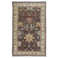 Bring a fresh airy element to your decor with this handmade rug, crafted of wool for added softness and durability. A traditional pattern lend a timeless appeal to this rug.