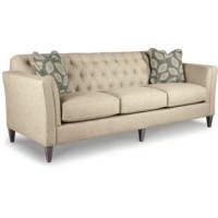 Alexandria Standard Sofa clean lines and casual styling that blends seamlessly with any décor. Yet, it still has a way of standing out. Slightly flared, key-shaped arms frame its two roomy seats for a unique, yet uncomplicated silhouette. Built to last with premier construction, Bexley helps you achieve a look that's both effortless and eclectic.