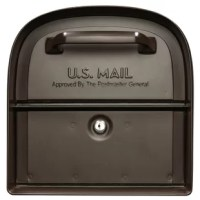 This product 360° parcel locking mailbox is designed with two retrieval doors for both front and rear access. The large rear door allows the homeowner to retrieve the mail without having to stand in the road or street. With its cast aluminum front frame enveloping the door and heavy-duty locking mechanism this design is built to last. This is a highly functional mailbox that will hold mail bundles, small parcels and padded envelopes in a securely locked compartment.
