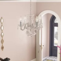 Lamy 4 - Light Candle Style Classic / Traditional Chandelier with Crystal Accents