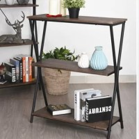 The bookcase brings an industrial-inspired style to your space. Featuring open wooden shelves supported by a sturdy metal frame, great for displaying books, mementos, pictures , plants and more.