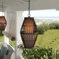 Illuminate the front porch or enjoy dinner beneath the pergola with this classic hanging lantern, featuring a decorative cage, glass shade, and matte black finish.