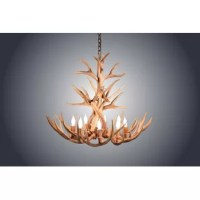 Best Price Mule Deer Antler 4 Light Candle Style Classic Traditional Chandelier Furniture Online