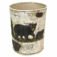 Decorate your favorite space with the nice bear waste basket.