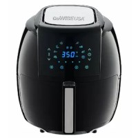 The 5.48 Liter 8-in-1 Air Fryer with 6 Piece Accessory Set allows you to enjoy your favorite fried snacks and food without the added calories. Rapid air circulation technology cooks food by circulating hot air in all directions, ensuring fast and even cooking. This XL air fryer has 8 built-in smart programs including fries, pork, shrimp, cake, chicken, steak, fish, and pizza. It offers a wide temperature range from 180◦F-400◦F and a cooking timer for up to 30 minutes. Featuring a new...