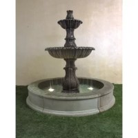 Reminiscent of European fountains in public squares, this courtyard fountain feature water streaming from tier to a tier which provides a pleasant sound.