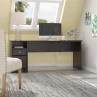 Create a stylish, functional, and organized home office with this Desk. The spacious work surface allows you to spread out with your laptop, papers, printer, and more with room to spare. Store files and supplies in the included drawers and open cubby shelf, designed for quick and easy access. A smooth full-extension drawer opens effortlessly on reliable ball bearing slides so you'll have no trouble reaching your letter or legal-size files.