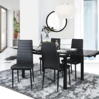 Modernize your home. Memories are made around the dining table, and a subtle revamping of your decor with this set of 4 dining chairs will be the perfect start. These chairs feature a minimalistic, contemporary design. This beautiful set is sure to be a mainstay in your home for years to come.