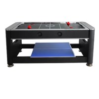 Get three great games in one space-saving package with this brilliant, multi-game table. The Triple Threat has it all, including classic billiards, thrilling air hockey, and fast-paced table tennis. Easily switch games with the Triple Threat's simple, rotating playfield and removable table tennis top. A perfect solution for high-energy kids with fast-changing moods. Simple, interlocking dowels keep your table safe and secure. Includes all the accessories you need, including billiards balls and...