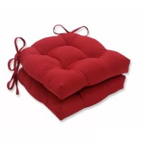 This tufted Indoor/Outdoor Dining Chair Cushion use a plush 100% polyester fill for ultimate comfort and feature 14