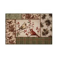 Cheerful birds bring nature's song to brighten your holiday season with this Natures Melody Beige/Brown Area Rug.