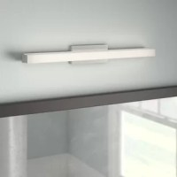 Sleek style and bountiful light are what define this contemporary LED bath vanity light. The thin bezel Backplate contributes to the low-profile design of this collection. Die cast metal endcaps and hardware house a co-extruded clear and white acrylic shade which illuminates a superb amount of ambient light.
