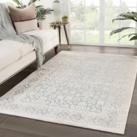 Soft to the touch and alluring with a distinctive high-low texture, this rayon, acrylic, and polyester Damask Ivory/Teal Area Rug lend the perfect accent to bedrooms. An intricate damask-inspired pattern covers this luxe layer with eye-catching detail, while neutral beige offers a stylish contrast to the lustrous teal ground color.