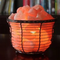 To accent the natural beauty of the salt crystals, they've housed them in a decorative metal vase, perfect for the design-conscious home. Illuminate your room with a warm, pleasant and relaxing amber glow.