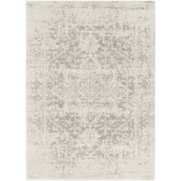 Made in Turkey, this area rug is machine-woven of stain- and fade-resistant polypropylene in a medium 0.38