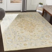 This rug exquisitely blends vintage and contemporary sensibilities of style to create designs that will last through the ages. This meticulously woven rug will provide a durable and natural sense of style to your decor space.