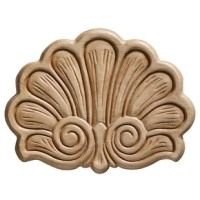 This embossed shell ornament is a perfect complement to any water feature. Deeply embossed with exceptional detail, this birch shell ornament provides an ideal accent for furniture, bookcases, the wall or fireplace mantels. Paint or stain to suit your decor. Acanthus center onlay ornament is a perfect accent to any project. This embossed birch plywood acanthus onlay ornament has incredible detail and is classic in design. The deeply embossed detail is enhanced with either painting or staining...