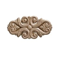 Oval ornaments are an excellent finish detail to many decor projects. These are perfect in size to accent panel effects on walls but not over-power the design element of your home. Embossed in natural birch face plywood, the detail can be enhanced further with paint or stain finishing. Often used as a finish detail on cabinets, shelves, headboards, beds, tables, the possibilities for use are endless.