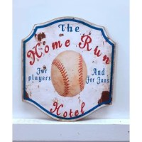 This Home Run Hotel Wooden Sign Wall Décor gives a unique touch to your home and enhances the style of the room. Show off your style and character with this beautiful accent piece.