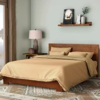 The master suite in need of a makeover? Or maybe you're gearing up for visitors in the guest room? No matter the restful retreat you're upgrading, this bed is the perfect place to start. Not only does it offer a spot to sleep, but it sets a stylish tone for your ensemble. Made from solid pine wood, it offers an understated appearance with a clean-lined silhouette and a neutral solid finish.