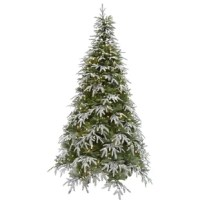 Spruce up your holiday decor and invest in an artificial Christmas tree. Hunter fir is made with quality materials that last year after year. The tree needles are constructed out of non-allergenic and flame-retardant materials then painted multiple hues of green so no two are exactly alike. A small selection of branches is lightly flocked and dispersed throughout the design for a natural frosty effect. Together these details create the look of a natural tree without the fuss and maintenance....