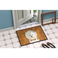 Indoor/Outdoor door mat. Permanently dyed and fade resistant. Great for the front door or the back door. Use this door mat inside or outside. Use a garden hose or power washer to chase the dirt off of the door mat. Do not scrub with a brush. Use the vacuum on floor setting. Made in the USA. Clean stain with a cleaner that does not produce suds.